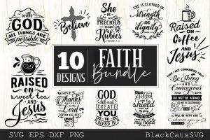 Faith Can Move Mountains Artistry For Jesus Svg For Cricut